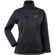 Antigua Women's San Jose Sharks Traverse Soft Shell Full-Zip Black Jacket