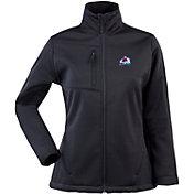Antigua Women's Colorado Avalanche Traverse Soft Shell Full-Zip Black Jacket