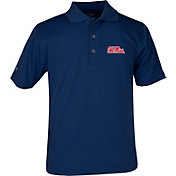 Antigua Youth Ole Miss Rebels Blue X-tra Lite Pique Polo