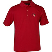 Antigua Youth Louisville Cardinals Cardinal Red X-tra Lite Pique Polo