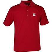 Antigua Youth Nebraska Cornhuskers Scarlet X-tra Lite Pique Polo