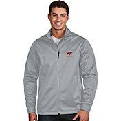 Antigua Men's Virginia Tech Hokies Silver Performance Golf Jacket