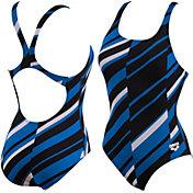 arena Girls' Melan Swim-Pro Back Swimsuit