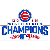 Authentic Street Signs 2016 World Series Champions Chicago Cubs Steel Logo Sign