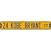 Authentic Street Signs Los Angeles Lakers '24 Kobe Bryant Ct' Sign