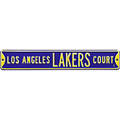 Authentic Street Signs Los Angeles Lakers Purple Court Sign