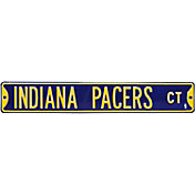 Authentic Street Signs Indiana Pacers Navy Court Sign