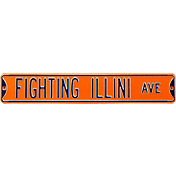 Authentic Street Signs Illinois Fighting Illini Avenue Sign