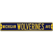 Authentic Street Signs Michigan Wolverines Avenue Navy Sign