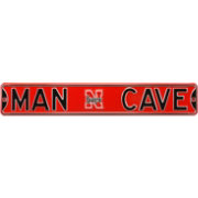 Authentic Street Signs Nebraska Cornhuskers 'Man Cave' Street Sign