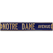 Authentic Street Signs Notre Dame Avenue Navy Sign