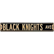 Authentic Street Signs Rutgers 'Scarlet Knights Ave' Black Sign