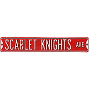 Authentic Street Signs Rutgers 'Scarlet Knights Ave' Sign