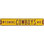 Authentic Street Signs Wyoming Cowboys Avenue Yellow Sign