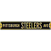 Authentic Street Signs Pittsburgh Steelers Avenue Black Sign