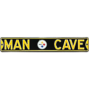 Authentic Street Signs Pittsburgh Steelers 'Man Cave' Street Sign