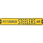 Authentic Street Signs Pittsburgh Steelers Avenue Yellow Sign