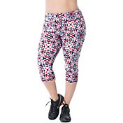 Rainbeau Curves Women's Plus Size Courtney Printed Capris