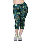 Rainbeau Curves Women's Plus Size Courtney Printed Capris