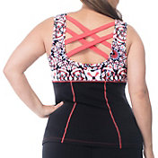 Rainbeau Curves Women's Plus Size Janis Printed Tank Top