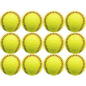 Baden Dimpled Yellow Training Softball - 12-Pack
