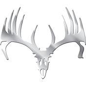 Big Rack Whitetail Skull Emblem Decal