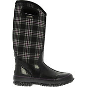 "BOGS Women's Classic High Plaid 13"" Insulated Waterproof Rain Boots"