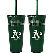 Boelter Oakland Athletics Bling 22oz Straw Tumbler 2-Pack