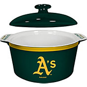 Boelter Oakland Athletics Game Time 2.4qt Oven Ceramic Bowl