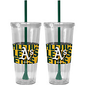 Boelter Oakland Athletics Bold Sleeved 22oz Straw Tumbler 2-Pack