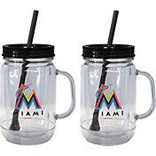 Boelter Miami Marlins 20oz Handled Straw Tumbler 2-Pack