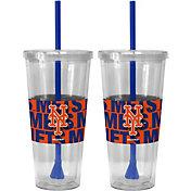 Boelter New York Mets Bold Sleeved 22oz Straw Tumbler 2-Pack