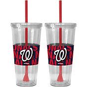 Boelter Washington Nationals Bold Sleeved 22oz Straw Tumbler 2-Pack