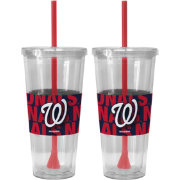 Boelter Washington Nationals Bold Sleeved 22oz Straw Tumbler 2-Pack