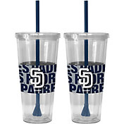 Boelter San Diego Padres Bold Sleeved 22oz Straw Tumbler 2-Pack