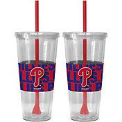 Boelter Philadelphia Phillies Bold Sleeved 22oz Straw Tumbler 2-Pack