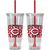 Boelter Cincinnati Reds Bold Sleeved 22oz Straw Tumbler 2-Pack