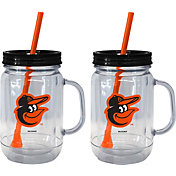 Boelter Baltimore Orioles 20oz Handled Straw Tumbler 2-Pack