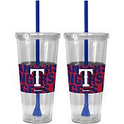 Boelter Texas Rangers Bold Sleeved 22oz Straw Tumbler 2-Pack