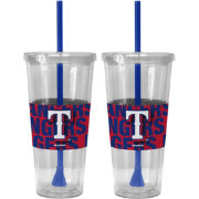 Boelter Texas Rangers Bold Sleeved 22oz Straw Tumbler 2-Pack