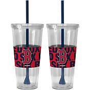 Boelter Boston Red Sox Bold Sleeved 22oz Straw Tumbler 2-Pack