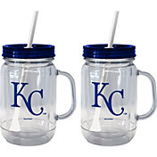 Boelter Kansas City Royals 20oz Handled Straw Tumbler 2-Pack
