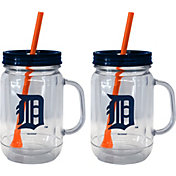 Boelter Detroit Tigers 20oz Handled Straw Tumbler 2-Pack