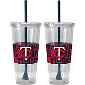 Boelter Minnesota Twins Bold Sleeved 22oz Straw Tumbler 2-Pack