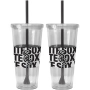 Boelter Chicago White Sox Bold Sleeved 22oz Straw Tumbler 2-Pack