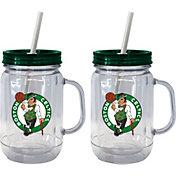 Boelter Boston Celtics 20oz Handled Straw Tumbler 2-Pack