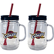 Boelter Cleveland Cavaliers 20oz Handled Straw Tumbler 2-Pack