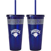 Boelter New York Knicks Bling 22oz Straw Tumbler 2-Pack