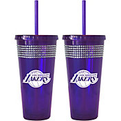 Boelter Los Angeles Lakers Bling 22oz Straw Tumbler 2-Pack