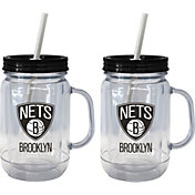 Boelter Brooklyn Nets 20oz Handled Straw Tumbler 2-Pack